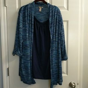 3/4 sleeve Navy tone tunic
